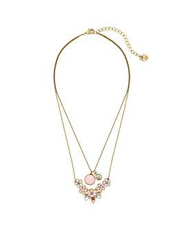 Lipsy Enamel Flower Necklace