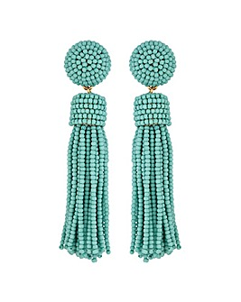 MoodTurquoise Tassel  Earrings
