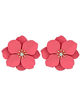 Mood Coral Flower Stud Earrings