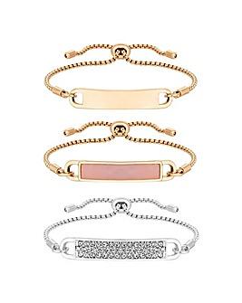 Mood Pave Toggle Bracelet Pack