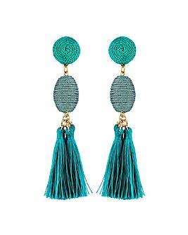 Lipsy Turquoise Tassel Earring