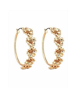 Lipsy Floral Hoop Earring