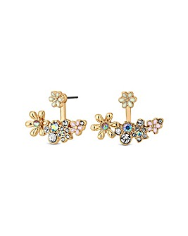Lipsy Enamel Flower Lobe Earring