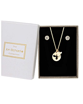 Jon Richard Bee Necklace And Earring Set