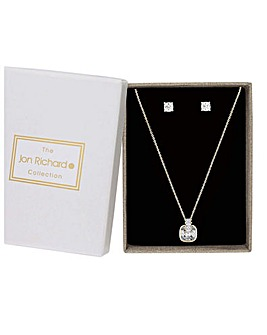 Jon Richard Square Pendant And Earring