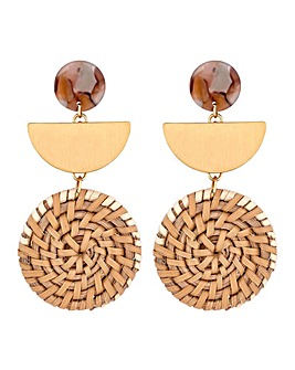 Mood  Basket Weave Earring