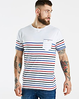 Jacamo Thin Stripe T-Shirt Reg
