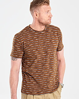 Flintoff By Jacamo Tobacco T-Shirt L
