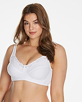 Sarah Non Wired Cotton Rich White Bra