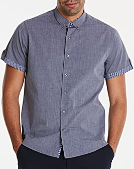 Jacamo Black Label Navy S/S Shirt L
