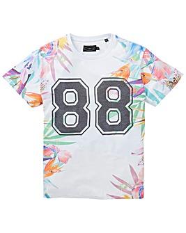 Label J Floral 88 T-Shirt Long