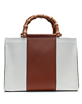 Daniel Marcher Leather Colour-Block Tote