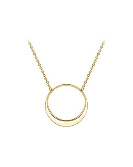 9Ct Gold Eclipse Necklace
