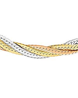 9Ct Gold Plait Necklace