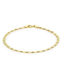9Ct Gold Herringbone Bracelet