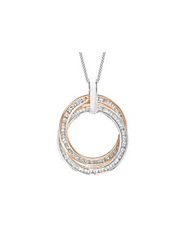 9Ct Gold CZ Rings Necklace