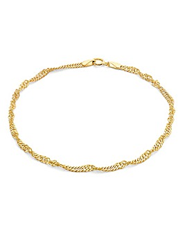 9Ct Gold Twist Curb Bracelet