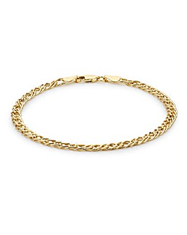9Ct Gold Double Curb Chain