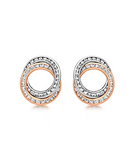9Ct Gold CZ Rings Stud Earrings