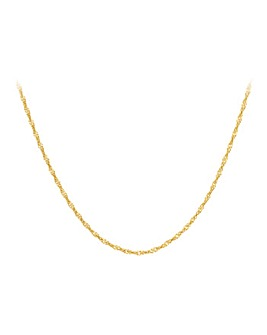 9Ct Gold Twist Curb Chain