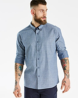 Jacamo Black Label Blue L/S Shirt R