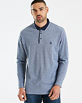 Jacamo Black Label Blue L/S Polo L