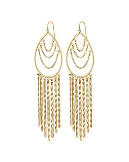 Mood Gold Plated Teardrop Drop Earring