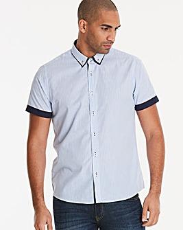 Blue S/S Stripe Shirt L