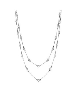 Jon Richard Silver Multirow Necklace