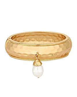 Mood Gold Plated Baroque Pearl Bangle