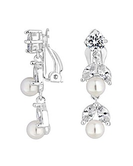 Jon Richard Drop Clip On Earring