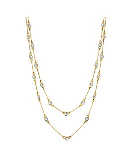Jon Richard Gold Multirow Necklace