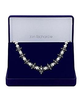 Jon Richard Crystal Flower Necklace