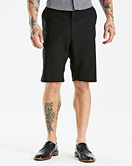Jacamo Black Label Black Linen Shorts