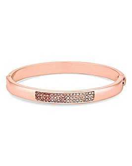 Jon Richard Rose Gold Pave Bangle