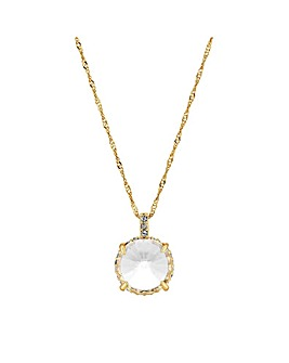 Jon Richard Gold Short Pendant Necklace