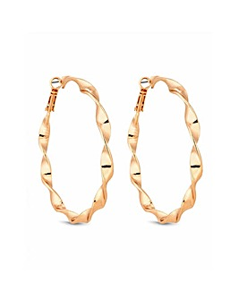 Lipsy Gold Plated Twist Hoop Earring