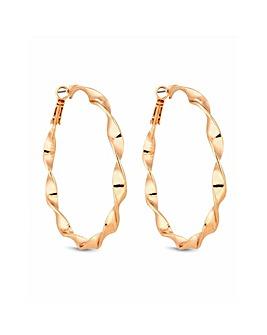 Lipsy Gold Plated Twist Hoop Earring