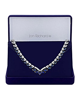 Jon Richard Silver Plated Pear Necklace