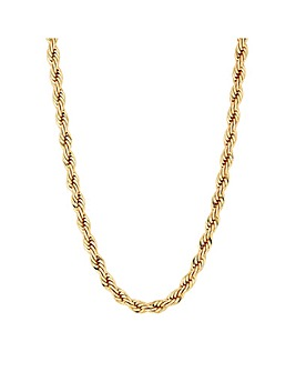 Mood Gold Plated Rope Chain Necklace