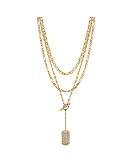 Mood Gold Plated Crystal Allway Necklace