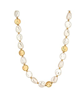 Mood Gold Plated Pearl Allway Necklace