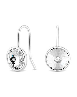 Simply Silver Besel Drop Earring