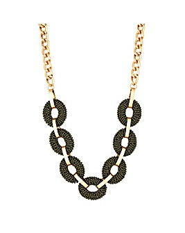 Mood Gold Plated Khaki Beaded Necklace