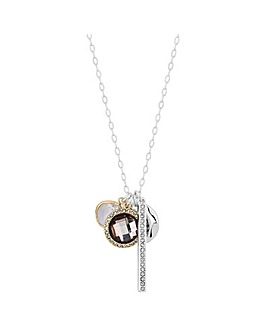 Mood Silver Plated Charm Necklace