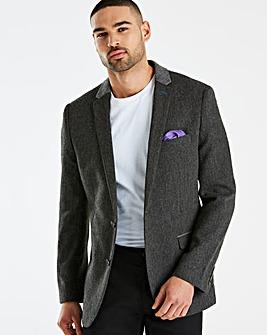 Jacamo Black Label Grey Tweed Blazer L