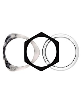 Mood Silver Plated Bracelet Pack Of 3