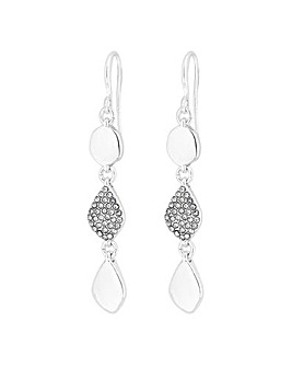 Jon Richard Silver Plated Pave Earring
