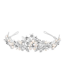 Jon Richard Silver Plated Pearl Tiara