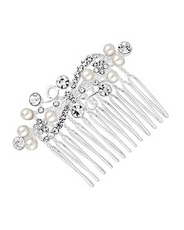 Jon Richard Silver Plated Hair Comb